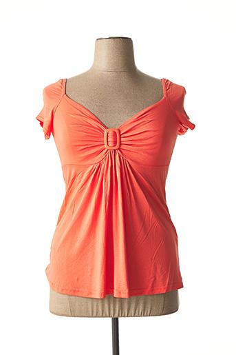 T-shirt manches courtes rose BAISERS SALES pour femme