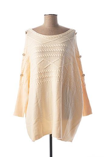 Pull tunique beige EXQUISS'S pour femme