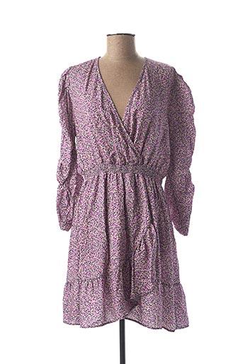 Robe mi-longue violet AN' GE pour femme