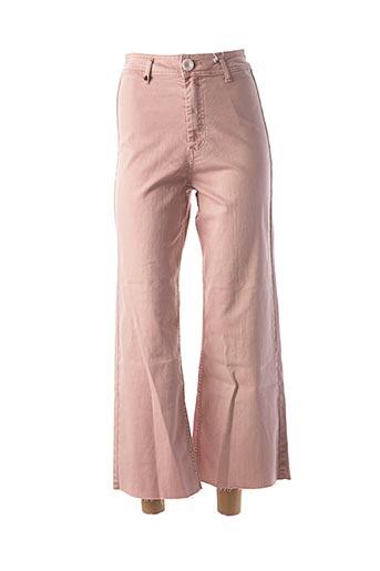 Pantalon casual rose F.A.M. pour femme