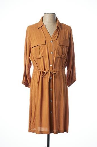 Robe mi-longue marron B.YOUNG pour femme
