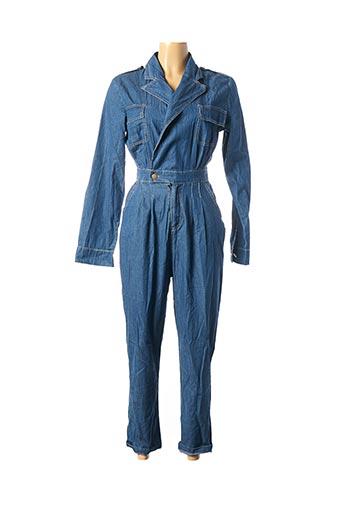 Combi-pantalon bleu ESTHER.H pour femme
