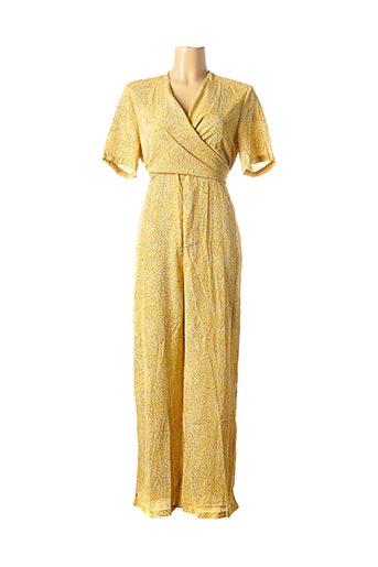 Combi-pantalon jaune ANNA ELLIS pour femme