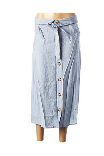 Jupe mi-longue bleu JOWELL pour femme
