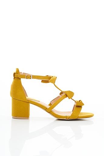 Sandales/Nu pieds jaune ERYNN pour femme
