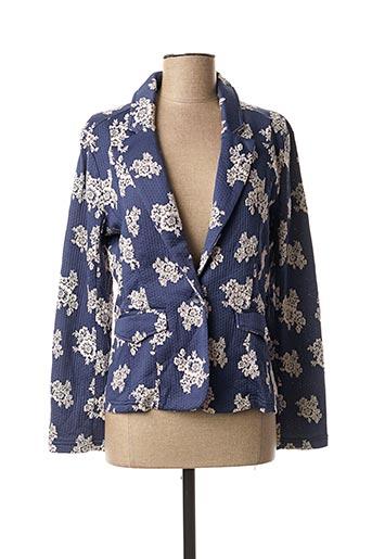 Veste simili cuir bleu LOLA ESPELETA pour femme