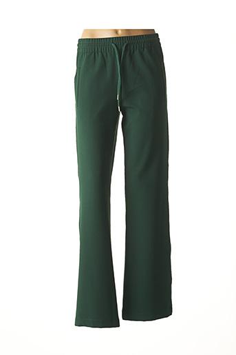 Pantalon casual vert ESSENTIEL ANTWERP pour femme