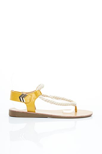 Sandales/Nu pieds jaune DAY-VINE pour femme