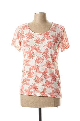 T-shirt manches courtes orange BERMUDES pour femme