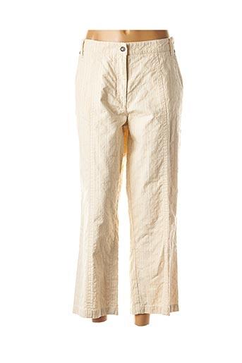 Pantalon casual beige BLUE WILLI'S pour femme