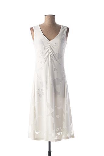 Robe mi-longue blanc PAUSE CAFE pour femme