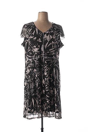 Robe mi-longue noir PAUSE CAFE pour femme
