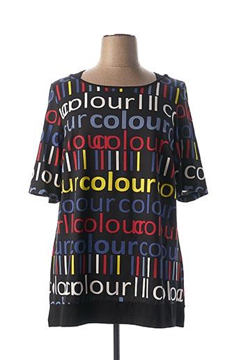 T-shirt manches courtes noir SEMPRE PIU pour femme