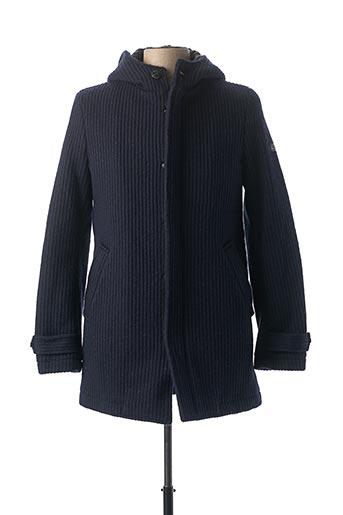 Manteau court bleu YES.ZEE pour homme