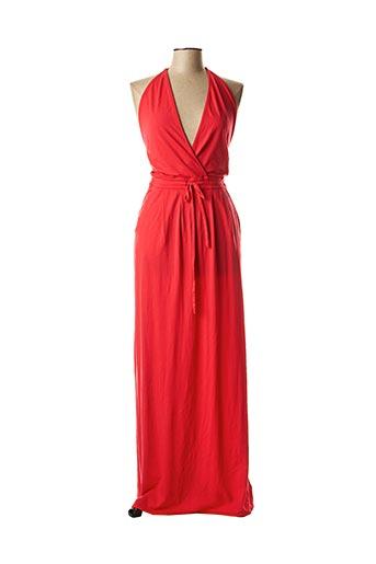 Robe longue rouge BOBI pour femme