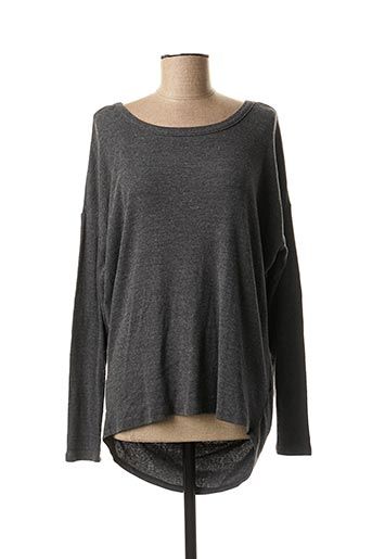 Tunique manches longues gris BOBI pour femme
