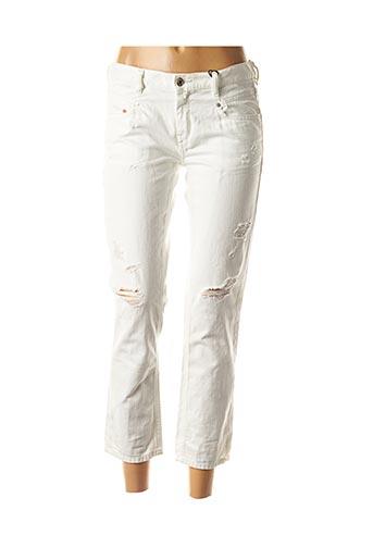 Jeans coupe droite blanc DIESEL pour femme