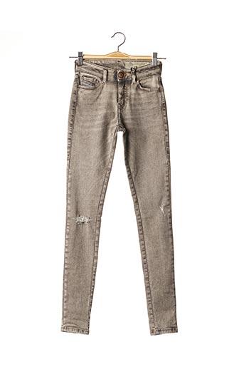 Jeans skinny gris DIESEL pour femme