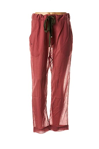 Pantalon casual rose LAURENCE BRAS pour femme