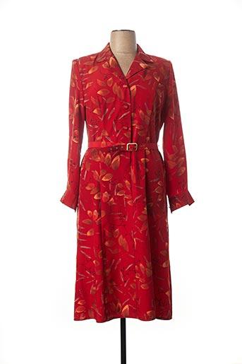 Robe mi-longue rouge CHARLES LORENS pour femme