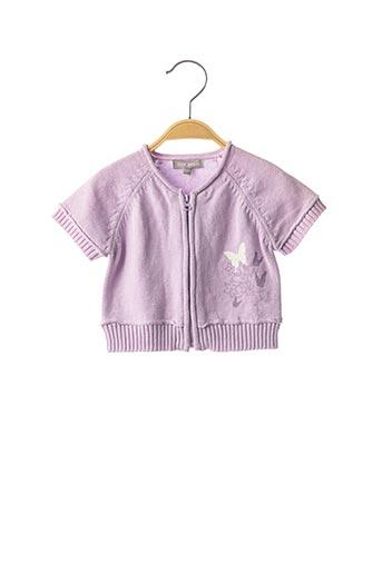 Gilet manches courtes violet MINI POUCE pour fille