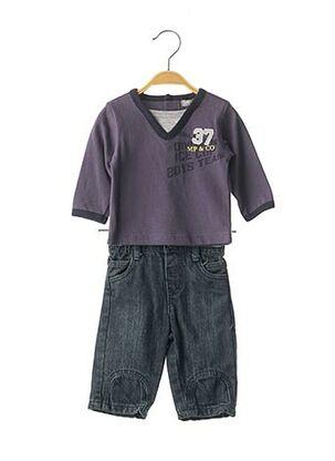 Top/pantalon bleu MINI POUCE pour garçon