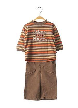 Top/pantalon marron KITI WATT pour garçon