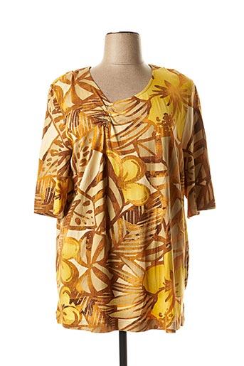 T-shirt manches courtes jaune CHALOU pour femme