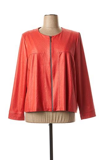 Veste simili cuir rouge JEAN DELFIN pour femme