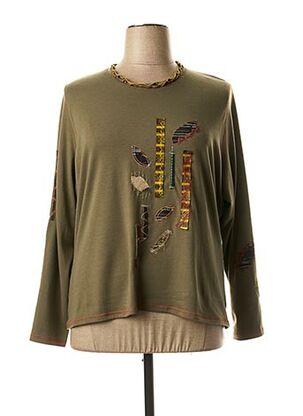 T-shirt manches longues vert JEAN GABRIEL pour femme