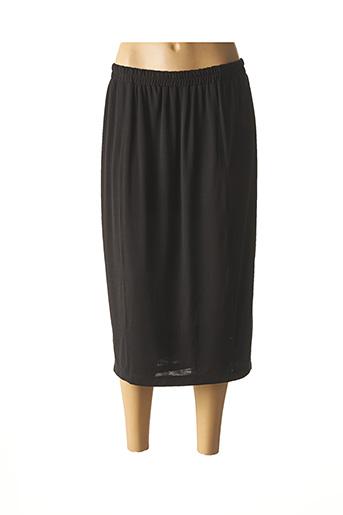 Jupe mi-longue noir CHALOU pour femme