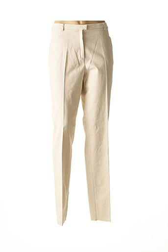 Pantalon casual beige CHRISTIAN MARRY pour femme