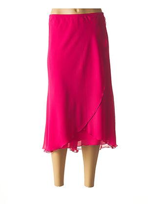 Jupe longue rose JEAN DELFIN pour femme