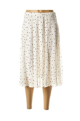 Jupe mi-longue blanc GEORGEDÉ pour femme