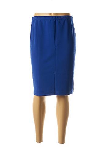 Jupe mi-longue bleu GEORGEDÉ pour femme