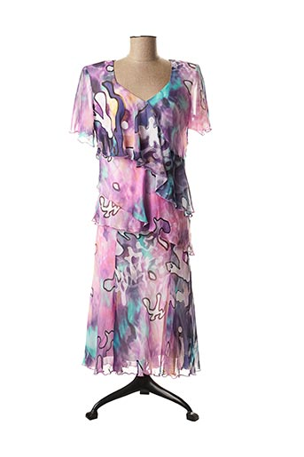 Top/jupe violet GEORGEDÉ pour femme