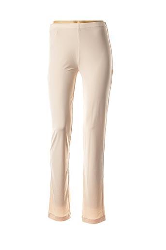 Pantalon casual beige GEORGEDÉ pour femme