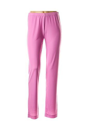 Pantalon casual rose GEORGEDÉ pour femme