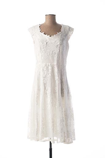Robe mi-longue blanc GEORGEDÉ pour femme