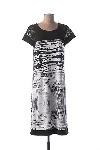 Robe mi-longue noir GEORGEDÉ pour femme