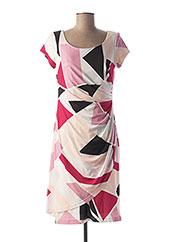 Robe mi-longue rose GEORGEDÉ pour femme seconde vue
