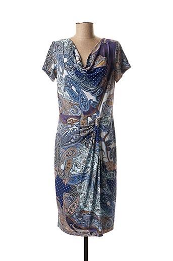 Robe mi-longue bleu GEORGEDÉ pour femme