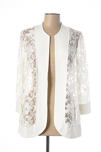 Veste casual blanc GEORGEDÉ pour femme