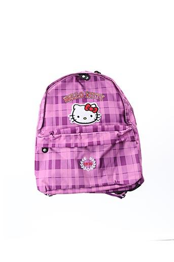 Sac à dos violet HELLO KITTY pour fille