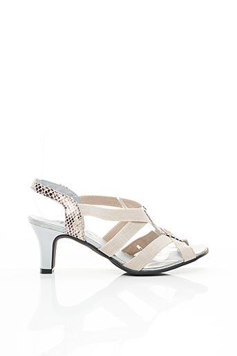 Sandales/Nu pieds beige ARTIKA SOFT pour femme