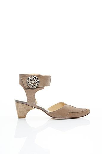 Sandales/Nu pieds beige FRANCE MODE pour femme
