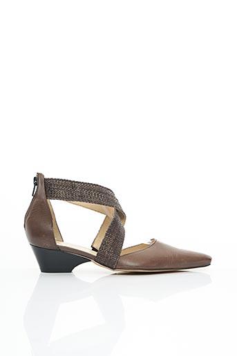 Sandales/Nu pieds marron FRANCE RIVOIRE pour femme