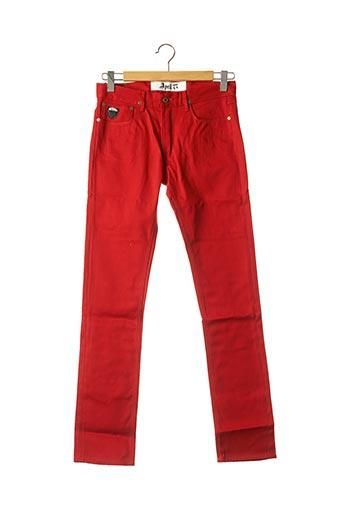 Jeans coupe droite rouge APRIL 77 pour homme