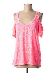 T-shirt manches courtes rose O'NEILL pour femme seconde vue