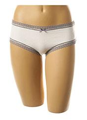 Shorty/Boxer blanc ETAM pour femme seconde vue